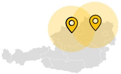 Standorte - Karte